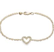Armband Hjärta med Diamanter